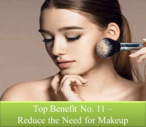 Reduces use of makeup