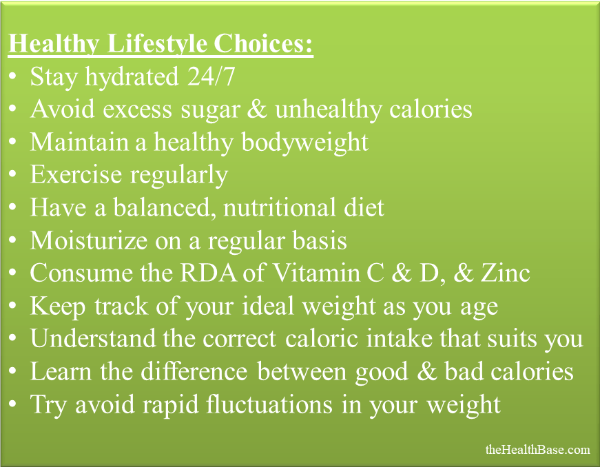 Key healthy lifestyle choices