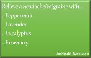 Essential oils for migraines