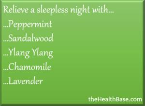 Sleep aid essential oils
