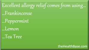 Essential oils to relieve allergies
