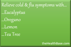 Essential oils for colds and flues