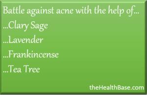 Essential oils to combat acne
