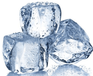 Reduce swelling with ice cubes