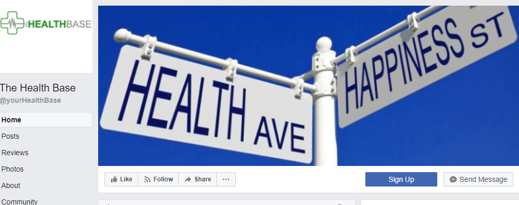 The Health Base Facebook page