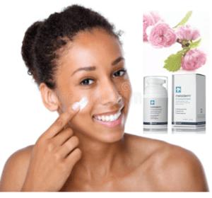 female applying cream