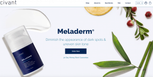 Meladerm by civant official website